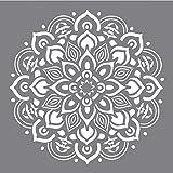 Rayher 38969000 Schablone Mandala, 30,5 x 30,5 cm, Polyester, SB-Btl 1 Stück, Motivgröße ca. 26,5...