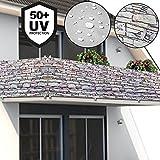 Deuba Windschutz 5m | UV-Schutz 50+ | wasserabweisend | Sichtschutz Balkonbespannung...