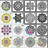 Janedream DIY Mandala Hilfsschablone Layering Vorlage Airbrush Malerei Schablone wiederverwendbar...