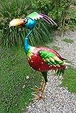 Dekovogel EXOTIC aus Metall, 66 cm hoch, aufwendig verarbeitet Paradiesvogel Dekoration Gartenfigur...