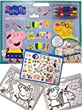 Peppa Pig Künstler-Skizzenblock, 40 Seiten, Papier, Malbuch, 47 tolle Aufkleber, Malerei für...