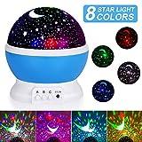 Sternenhimmel Projektor, Sunnest baby Nachtlicht LED 360 Rotierend Projektionslampe Romantische LED...