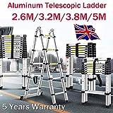 Multi-Purpose Aluminium Teleskopleiter Folding Extention Stufenleiter Loft Dachboden Leiter,...
