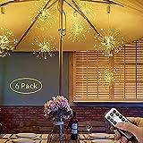 WZRY Feuerwerk-Regenschirm-Licht, Kronleuchter, 120 LED wasserdichte Kronleuchter mit 8 Modi,...