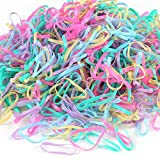 MaoNativey 1000 Stück mehrfarbige Gummibänder, weiche elastische Gummi-Haarbänder oder...