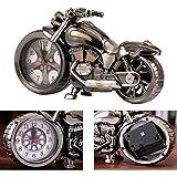 Motorrad-Wecker, Retro-Stil Tischuhr, Motorrad-Rack-Modell, für das Büro zu Hause Dekoration (4...