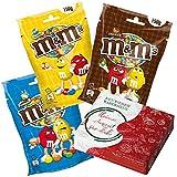 m&ms Süßigkeiten Box - m&ms Crispy, Peanut und Schokolade - mms Schokolinsen Naschbox - chocolate...