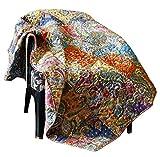 RAJRANG BRINGING RAJASTHAN TO YOU Patchwork Throws Blanket - 130 x 170 cm 100% Baumwolle Multi-Color...