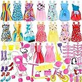 WENTS Kleidung zubehör Set Für Barbie Puppen Kleider Schuhe Kleiderbügel Puppe Stand Halter...