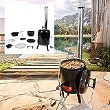 BRAST Eintopfofen mit Grillfunktion Ofen Kugelgrill Barbecue Grill Outdoor-Küche Gulaschkanone...