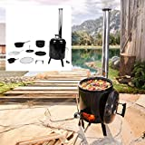 BRAST Eintopfofen mit Grillfunktion Ofen Kugelgrill Barbecue Grill Outdoor-Kche Gulaschkanone...