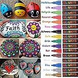 Dealkits 16 Farben Wasserfeste Stifte, Permanent Marker Paint Pen Schnelltrocknend für Stein...