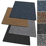 Floordirekt Design Teppichfliesen Moskau 50x50 cm selbstliegend - 1 m² Set - strapazierfähiger...