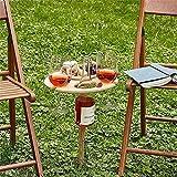 HOOJUEAN Tragbarer Outdoor-Weintisch mit faltbarem, klappbarer Weintischpfahl im Freien, Freien...
