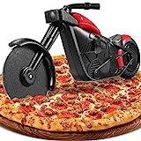 Motorrad Pizzaschneider, Lustige Pizza Schneider Edelstahl Kunststoff Pizzaroller Pizzarad...
