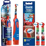 SPAR-SET: 1 Braun Oral-B Stages Power Kids cls Batterie-Zahnbürste Kinder DB4.510.K Disney CARS +...