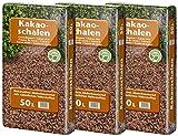 Floragard Kakaoschalen Mulch 3x50 L - zum Mulchen von Pflanzflächen, Gehölz- und Staudenbeeten -...