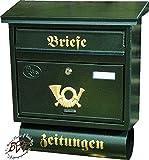 BTV Briefkasten, mit Rostschutz FG/gr groß in grün dunkelgrün moosgrün Zeitungsfach Zeitungen...