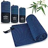 Outdoro Reisehandtuch mit Bambus Kohle Ultra-leicht & saugfähig - komfortabler als...
