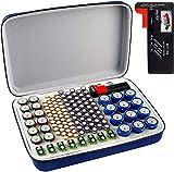 Batterie Aufbewahrungsbox, Batterien Aufbewahrung Organizer Tasche mit Batterietester Akkutester....