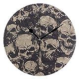 FFY Go Home Artwork, Wand-Tischuhr mit Totenköpfen, Vintage-Dekoration, tolles Geschenk für...
