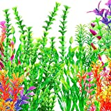 OrgMemory Plastikpflanzen für Aquarien, Aquarium Wasserpflanzen, (19 Stück, 20-37cm), Fisch Tank...