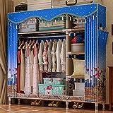 WQF Leinwand Kleiderschrank Große Kapazität Kleidung Lagerung Wohnzimmer Schlafzimmer Schlafsaal...