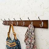 Jsmhh Wand Hing Massivholz Kleiderbgel Schlafzimmer Veranda Garderobe 2 Schichten Kleiderhaken...