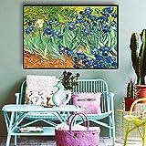 N / A Maler  Garten Iris Poster und Drucke lgemlde Leinwand Kunst Wandmalerei Wohnzimmer rahmenloses...