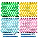 32 Stück Lockenwickler 30,8 cm Wave Formers Styling Kit, Hitzelose gewellte Styles Spiralwickler...
