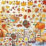 CheChury Herbst Blatt Fensterbilder Erntedankfest Fensteraufkleber ohne Kleber Thanksgiving...
