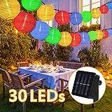 Nasharia Solar Lichterkette Lampions Außen 6 Meter 30 LED Laternen 2 Modi IP65 Wasserdicht Solar...