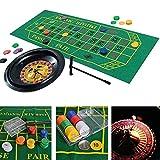 Dequate Roulette Wheel - Luxury Roulette Spiel Set - 10 Zoll - Spa Freizeit Unterhaltung Tischspiele...