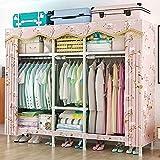 SOTCE Tragbarer Kleiderschrank E-165 × 45 × 165 cm tragbarer Kleiderschrank Aufbewahrungstasche...