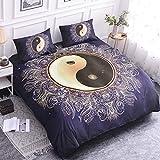 Mandala Bettwsche Set Yin und Yang Bettbezug Set Bohemian Druck Home Textil Bettwsche Mikrofaser...