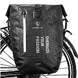 HIKENTURE Fahrradtasche für Gepäckträger, Gepäckträgertasche Fahrrad 27L, Radtasche Rucksack...