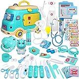 Anpro 50Stk Arztkoffer Medizinisches Spielzeug Spielzeugautomodelle Rollenspiel Spielzeug Set,...