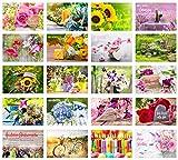 Edition Seidel Set 20 exklusive Premium Geburtstagskarten mit Umschlag. Glückwunschkarte Grusskarte...