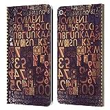 Head Case Designs Offizielle Spires Setzkasten 1 Typografie Leder Brieftaschen Huelle kompatibel mit...