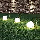 3 x LED-Solar-Kugelleuchte MARLA Solar-Kugellampe mit Erdspie, Durchmesser 20cm, Dekoleuchte fr...