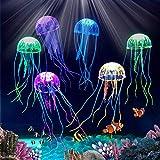 BETOY Leuchtende Quallen, 6 Stück Künstliche Quallen Silikon Quallen Hohe Simulation Aquarium...