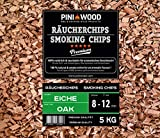 PINI 5 Kg Räucherchips Eiche 8-12 mm Smoking Chips Räucherspäne 18 Liter
