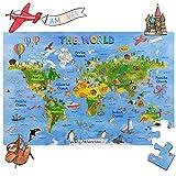 Amagenius Weltkarte Puzzles für Tisch und Boden mit extra dicken Teilen