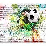 murando Fototapete Fussball 400x280 cm Vlies Tapeten Wandtapete XXL Moderne Wanddeko Design Wand...