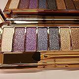9 Farben Lidschatten-Palette Wasserdicht Langlebig Schimmer Glänzend Glitter Lidschatten Augen...