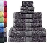 GREEN MARK Textilien 10 TLG. FROTTIER Handtuch-Set mit verschiedenen Größen 4X Handtücher, 2X...