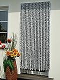 Leguana Handels GmbH Türvorhang Flauschvorhang Flauschi Chenillevorhang 100x200 silberweiss