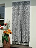 Leguana Handels GmbH Trvorhang Flauschvorhang Flauschi Chenillevorhang 100x200 silberweiss