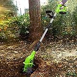 LIMEID 20V Motorhacke Mini-Bodenhacke Bodenkrümler Gartenhacke Kultivator mit 10cm Arbeitsbreite...