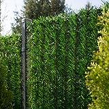 FairyTrees Sichtschutz Garten Zaunblende, GreenFences Hecke, Kiefernoptik Dunkelgrün, PVC, Höhe...